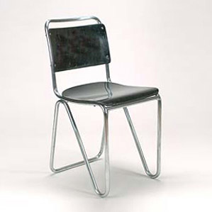 Diagonalrohr' Stuhl