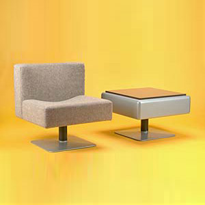 Lounge chair/low table 'System Sessel-Gr by Quittenbaum