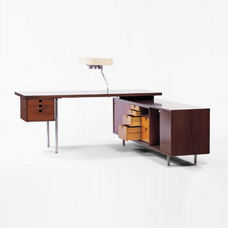 Desk and return by Wright