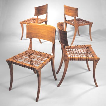 Klismos chairs