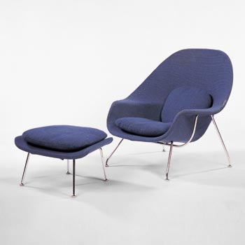 Womb chair/ottoman