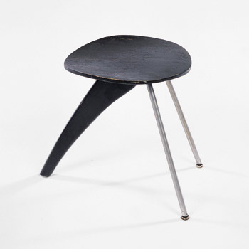 Paddle Fin stool by Wright