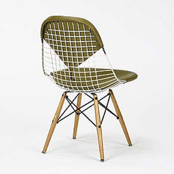 Dowel leg wire chair