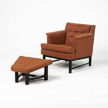 Lounge chair/ottoman by Wright