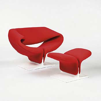 F 582 Ribbon Chair/Footstool