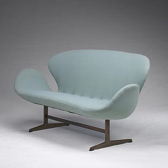 Swan settee by Wright