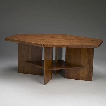 Table for the Raymond Carlson residence by Wright