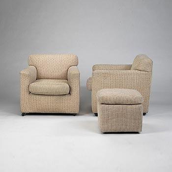 Lounge chair/ottoman (Joseph Block resid