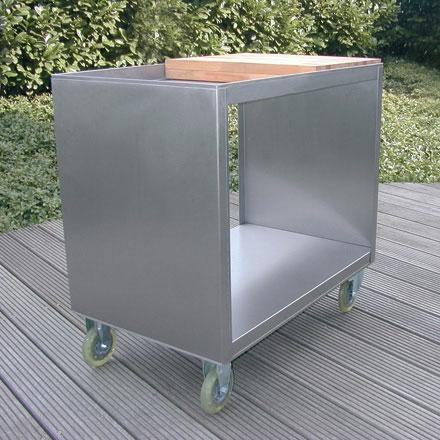 beistellwagen edelstahl von radius design produkt. Black Bedroom Furniture Sets. Home Design Ideas