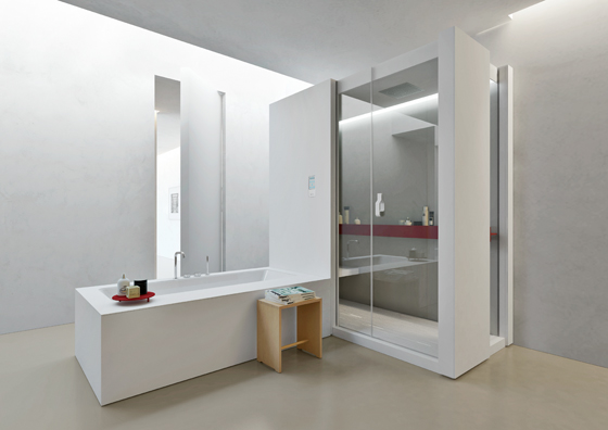 Gleiche Ebene Dusche : Das ?H-Hammam? Dampfbad von Makro mit integrierter Dusche vereint