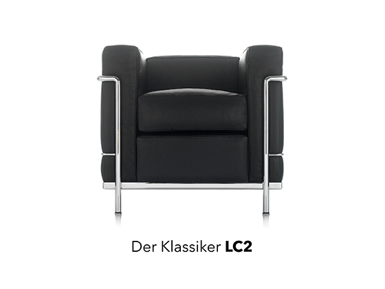 le corbusier reloaded der lc2 bei designfunktion. Black Bedroom Furniture Sets. Home Design Ideas