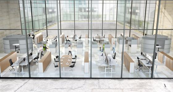Moderne bürokonzepte  Das Tischsystem CHANGE von VARIO