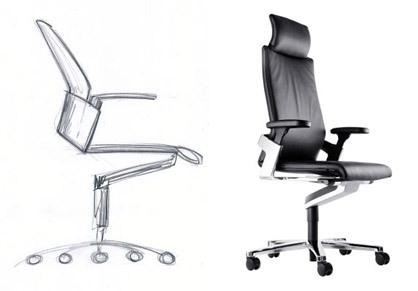Bürostuhl skizze  Bürostuhl 'ON'
