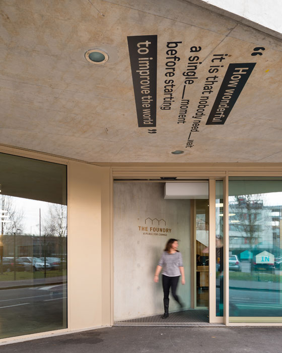 Here and now new wayfinding and place making news for The foundry architecture 00