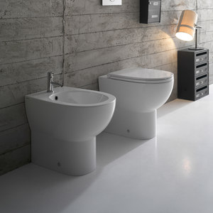 PANS AND BIDET BACK TO WALL