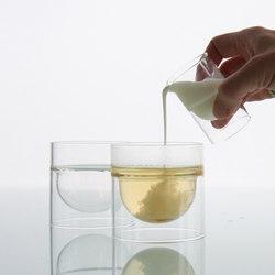 float glassware | sugar/cream