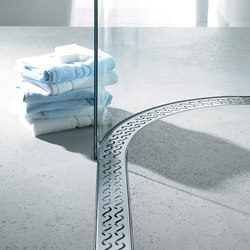 ACO ShowerDrain E-line round: Design gratings