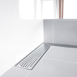 ACO ShowerDrain E-line angled: Design gratings