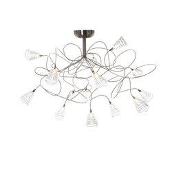 Spiral ceiling light