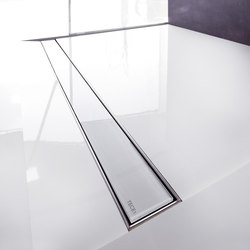 TECEdrainline shower channels glass