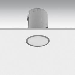 Lens flush-mounted