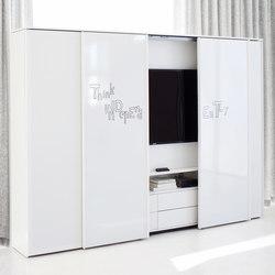 Front running door cupboard system glider