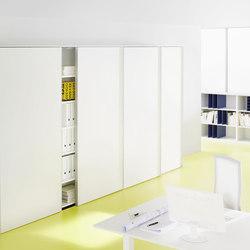 glider Front running door cupboard system