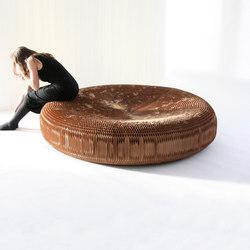 softseating | natural brown kraft paper lounger