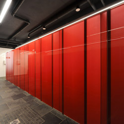 GM CABINMART® glass partition modules for sanitary areas