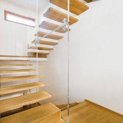 Scale con parete di vetro