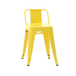 H stools with backrest
