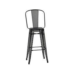 H perforated stools with backrest