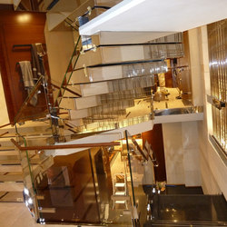 Polished Stainless Steel Stairs