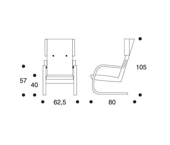 Armchair 401 Re-interpretation by Hella Jongerius by Artek