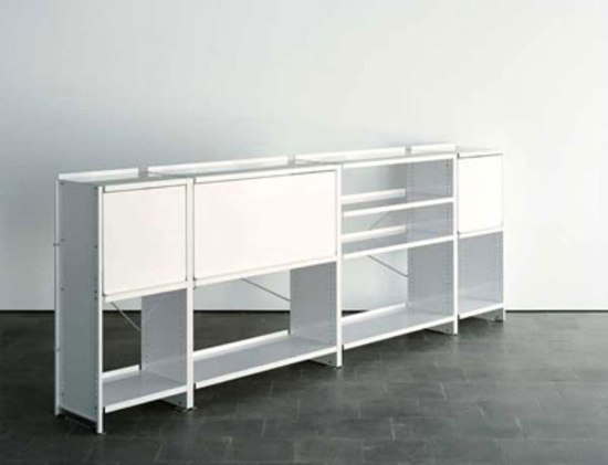Aluminium shelves by Lehni