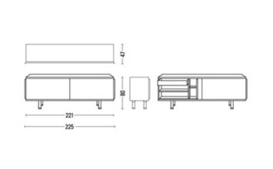 Biplano Sideboard von Röthlisberger Kollektion