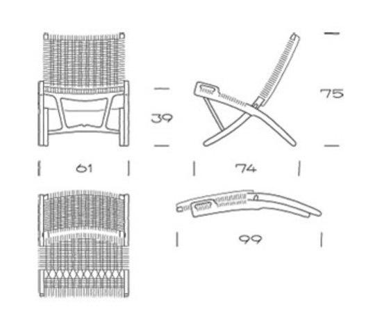 pp512 | Folding Chair di PP Møbler