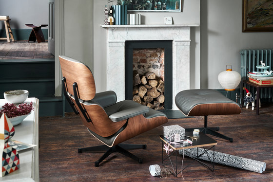 Lounge Chair & Ottoman by Vitra