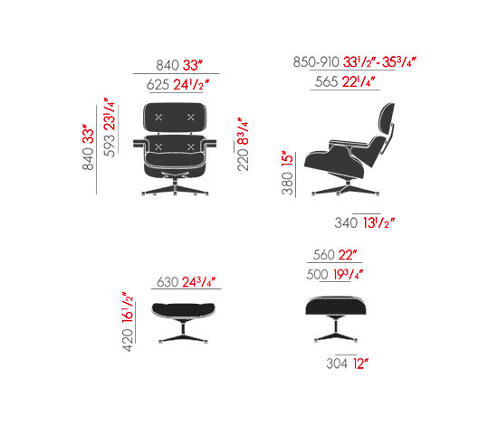 Lounge Chair & Ottoman de Vitra