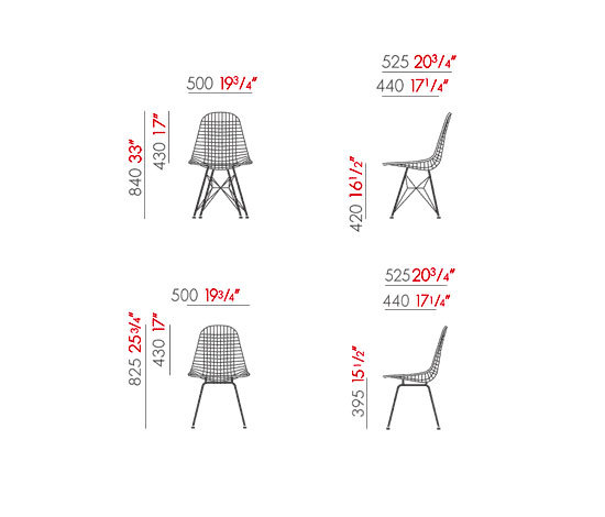 Wire chair dkr dkx di vitra wire chair dkr wire for Sedie design dwg