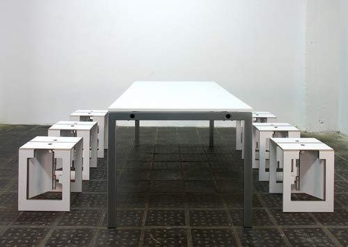 Falter XXL folding table by mobilia collection