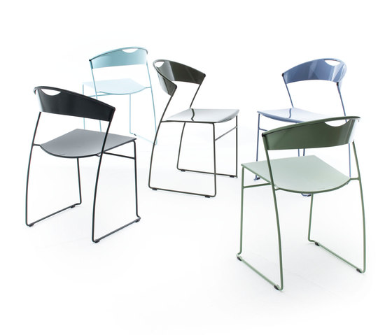 Juliette stackable chair by Baleri Italia by Hub Design