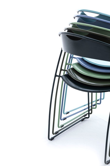 Juliette stackable chair by Baleri Italia