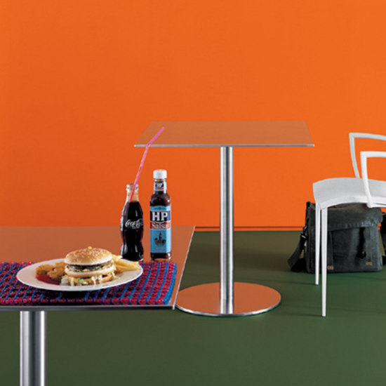 Nox Glass square table by Desalto