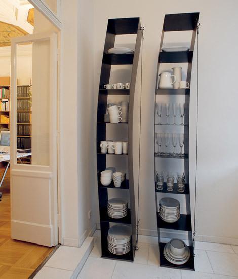 gespanntes regal von moormann produkt. Black Bedroom Furniture Sets. Home Design Ideas