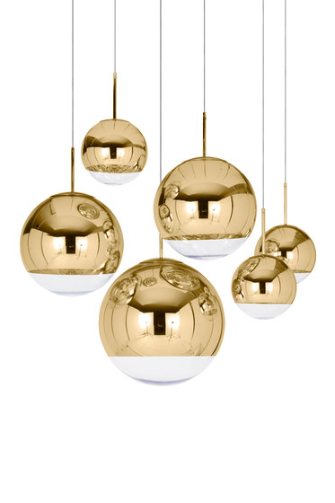 Mirror Ball Gold Stand Chandelier di Tom Dixon