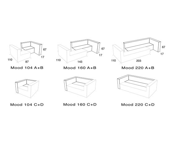 Mood Seating 62 by VANGE