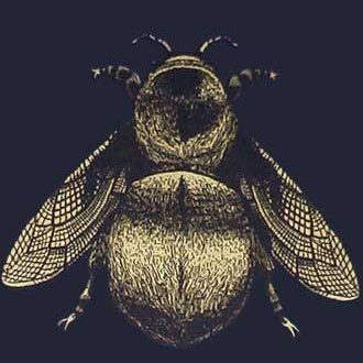 NAPOLEON BEE WALLPAPER di Timorous Beasties