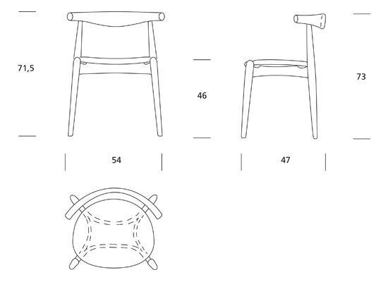 CH20 Elbow Chair di Carl Hansen & Søn