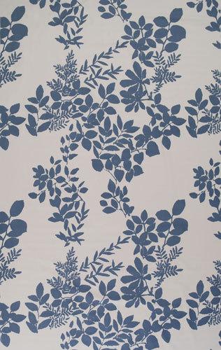 Kukkula white interior fabric by Marimekko